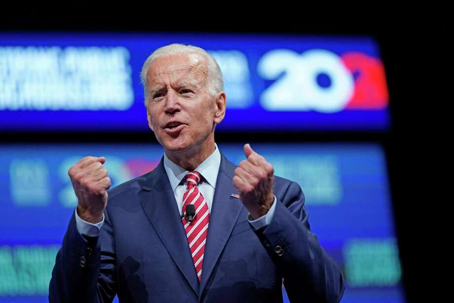 Democratic presidential candidate and former vice president Joe Biden speaks during the National Education Association Strong Public Schools Presidential Forum Friday, July 5, 2019, in Houston. (AP Photo/David J. Phillip) Photo: David J. Phillip / Copyright 2019 The Associated Press. All rights reserved