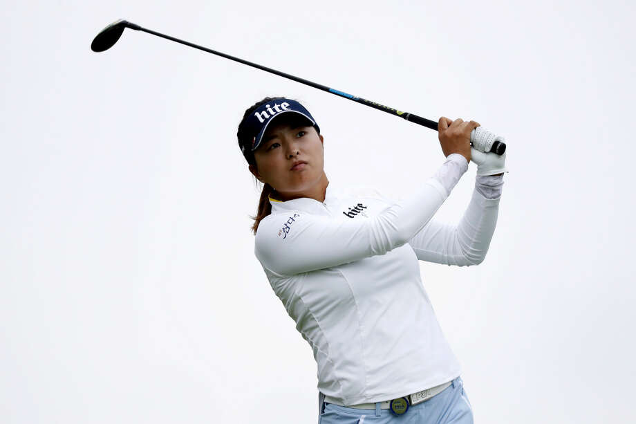 Jin Young Ko hits off the third tee during the final round of the KPMG Women's PGA Championship on June 23 in Chaska, Minn. Ko, the No. 2 player in the Rolex world rankings, will participate in next week's inaugural Dow Great Lakes Bay Invitational with partner Minjee Lee. Photo: Associated Press File Photo