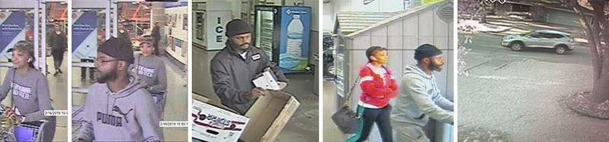 Security cameras captured images of credit card thieves who allegedly stole more than $20,000 in stolen goods from Sam's Club. Anyone with information is urged to contact the Sugar Land Police Department at 281-275-2540 or Fort Bend County Crime Stoppers at 281-342-TIPS (8477).