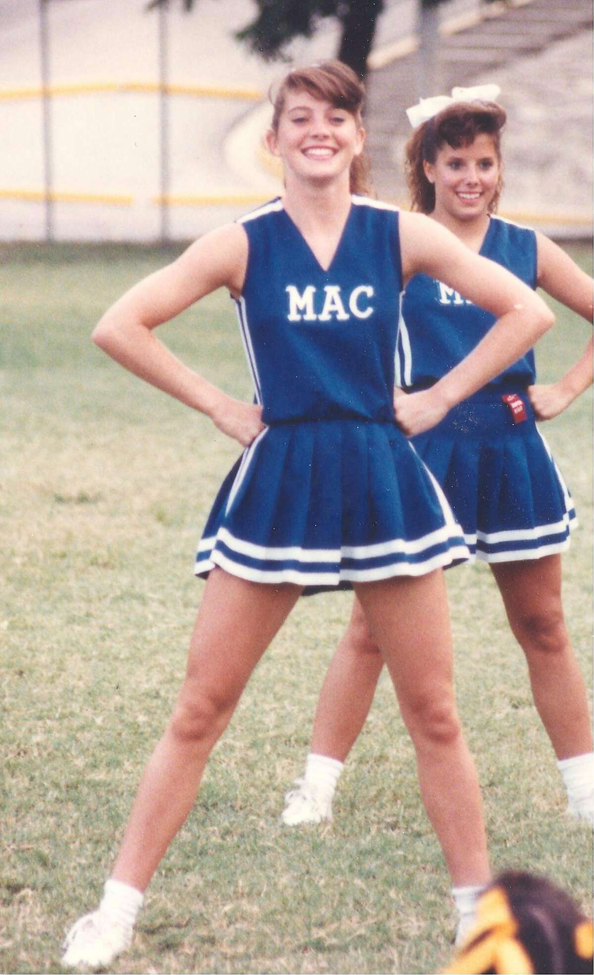 Norah O'Donnell, a member of the class of 1991, was head cheerleader at MacArthur High School