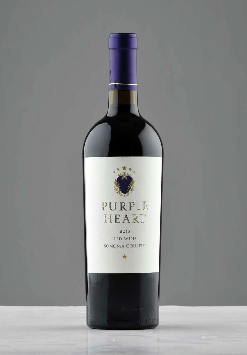 Purple Heart red blend on Tuesday, Dec. 4, 2018, at the Times Union in Colonie, N.Y. (Will Waldron/Times Union)