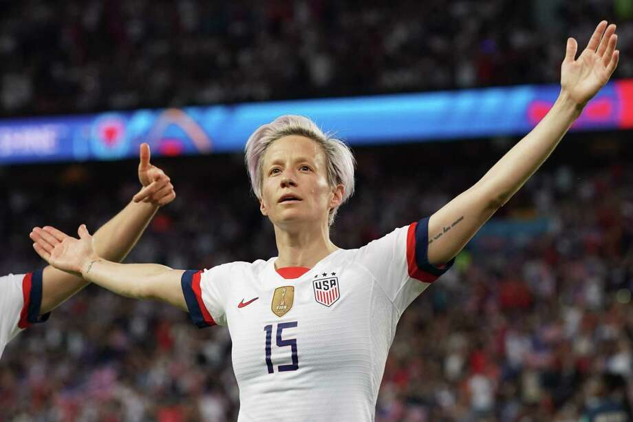 Megan Rapinoe is protesting the Stars and Stripes while wearing the Stars and Stripes. That's not OK. Photo: Lionel Bonaventure / Getty Images / AFP or licensors