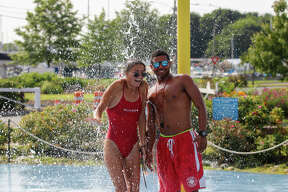 Were you SEEN cooling off at Calf Pasture beach in Norwalk during the heat wave July 10, 2019?