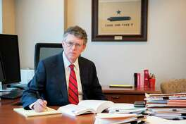 Federal Energy Regulatory Commission Commissioner Bernard McNamee in his office in Washington. McNamee is a former adviser to Texas Sen. Ted Cruz and staffer with the conservative Texas Public Policy Foundation.