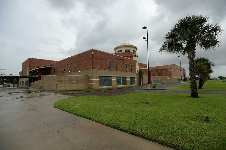 Sabine Pass High School, which was rebuilt after being destroyed by Hurricanes Rita and Ike, was free of any water or damage the day after Hurricane Harvey made land, battering the Gulf communities surrounding Corpus Christi. Heavier rains and wind are expected to impact the Southeast Texas region within the coming days, increasing the risk for severe flooding. Photo taken Saturday, August 26, 2017 Kim Brent/The Enterprise Photo: Kim Brent / Beaumont Enterprise / BEN