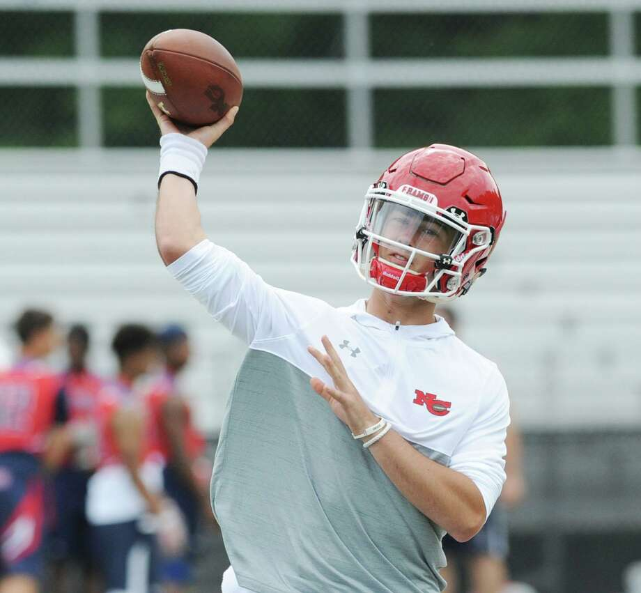 New Canaan High School quarterback Drew Pyne during the Grip It & Rip It football tournament at New Canaan High School in July 2017. , New Canaan, Conn., Saturday, July, 8, 2017. Photo: Hearst Connecticut Media File Photo / Greenwich Time