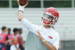 New Canaan High School quarterback Drew Pyne during the Grip It & Rip It football tournament at New Canaan High School in July 2017. , New Canaan, Conn., Saturday, July, 8, 2017.