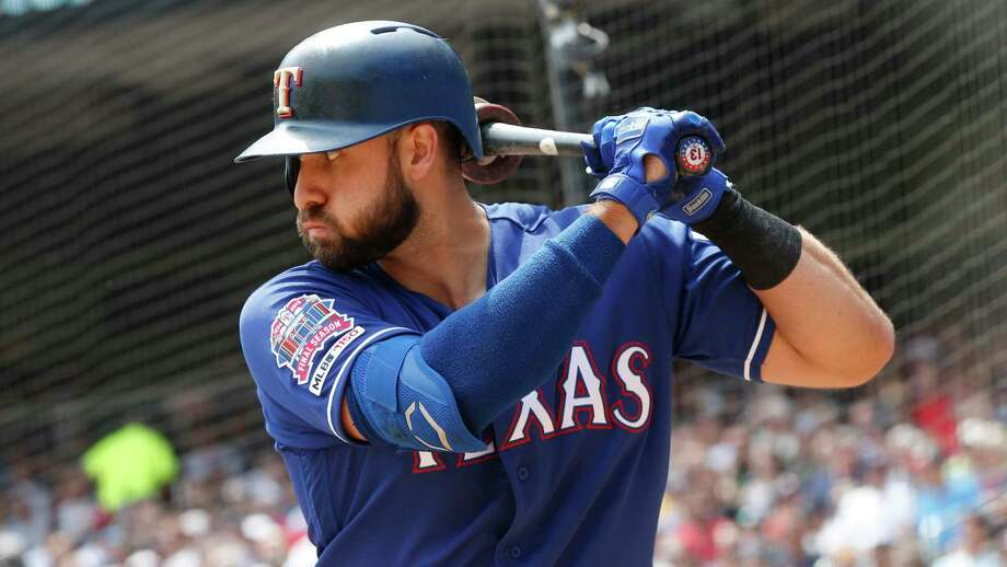 American League All-Star outfielder Joey Gallo takes an OPS of 1.060 into this series with the Astros. Photo: Jim Mone, STF / Associated Press / Copyright 2019 The Associated Press. All rights reserved