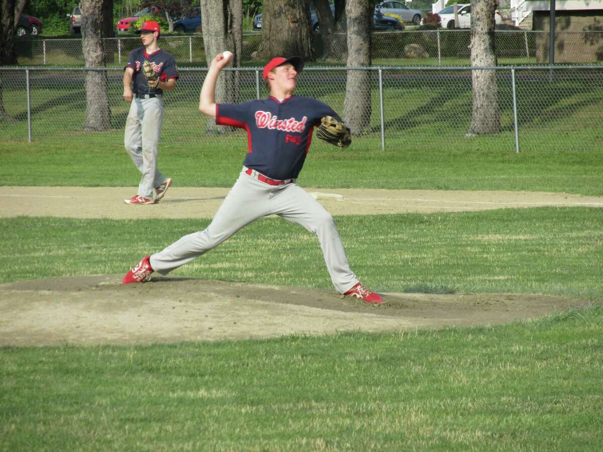 Luke Green pitched seven solid innings in Winsted's American Legion Baseball win against Avon Wednesday evening at Walker Field.
