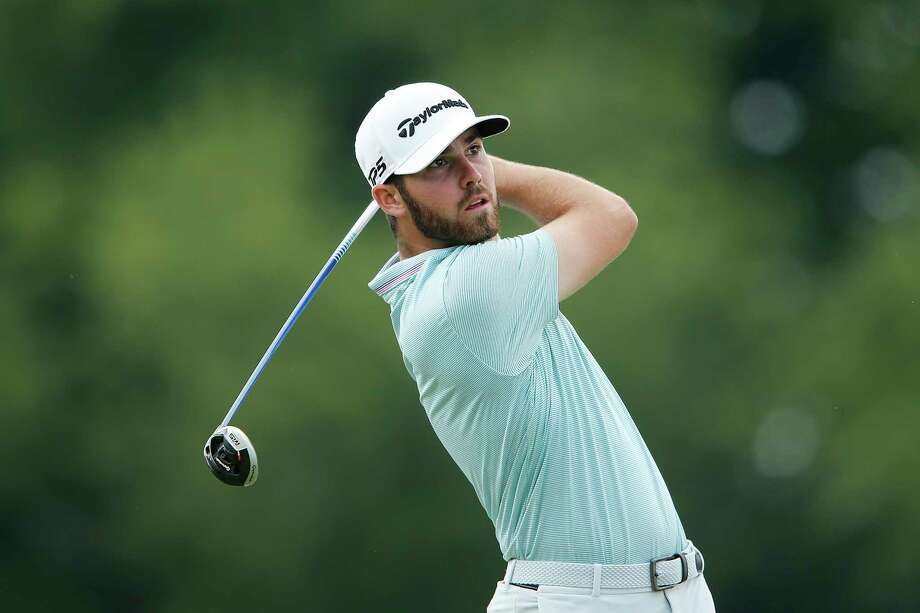 BLAINE, MINNESOTA - JULY 07: Matthew Wolff of the United States plays his shot from the 14th tee during the final round of the 3M Open at TPC Twin Cities on July 07, 2019 in Blaine, Minnesota. (Photo by Michael Reaves/Getty Images) Photo: Michael Reaves / 2019 Getty Images
