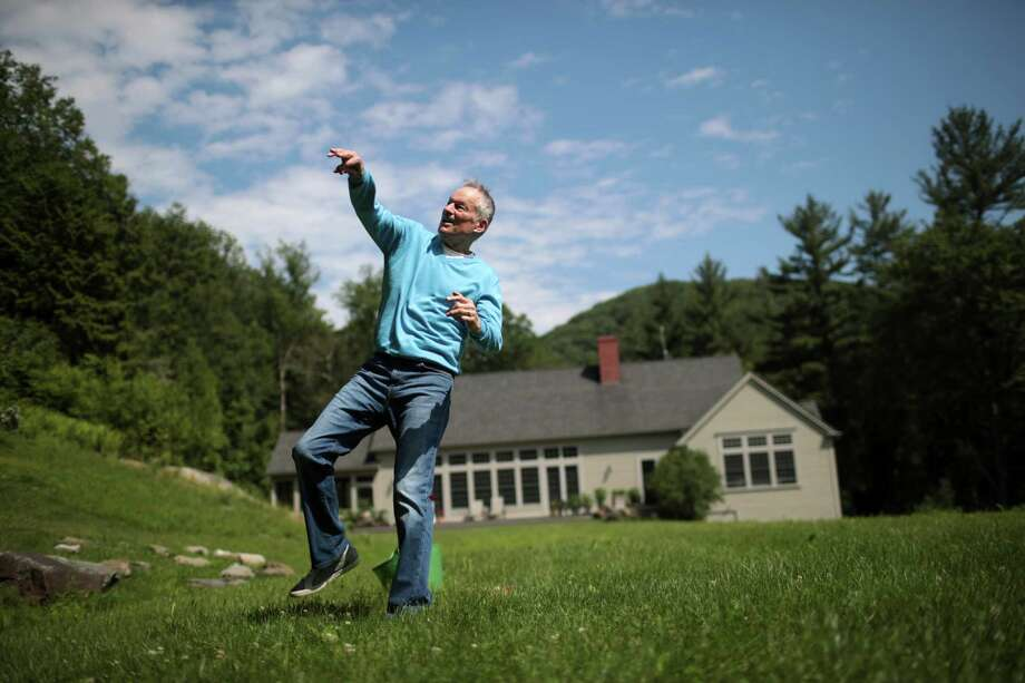 "FILE – Jim Bouton, the iconoclastic former New York Yankees pitcher and author of the baseball memoir ""Ball Four,"" at home in Alford, Mass., June 23, 2017. Bouton's raunchy, shrewd, irreverent — and best-selling — player's diary helped pierce baseball's wholesome image. He died on July 10, 2019, at age 80. (Nathaniel Brooks/The New York Times) Photo: NATHANIEL BROOKS, NYT / NYTNS"