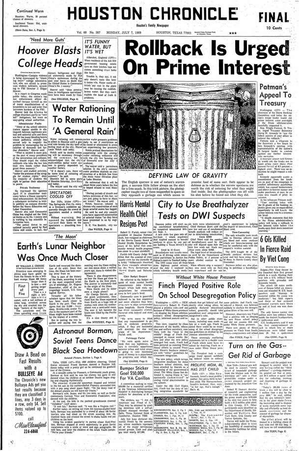 July 7, 1969 Photo: Houston Chronicle
