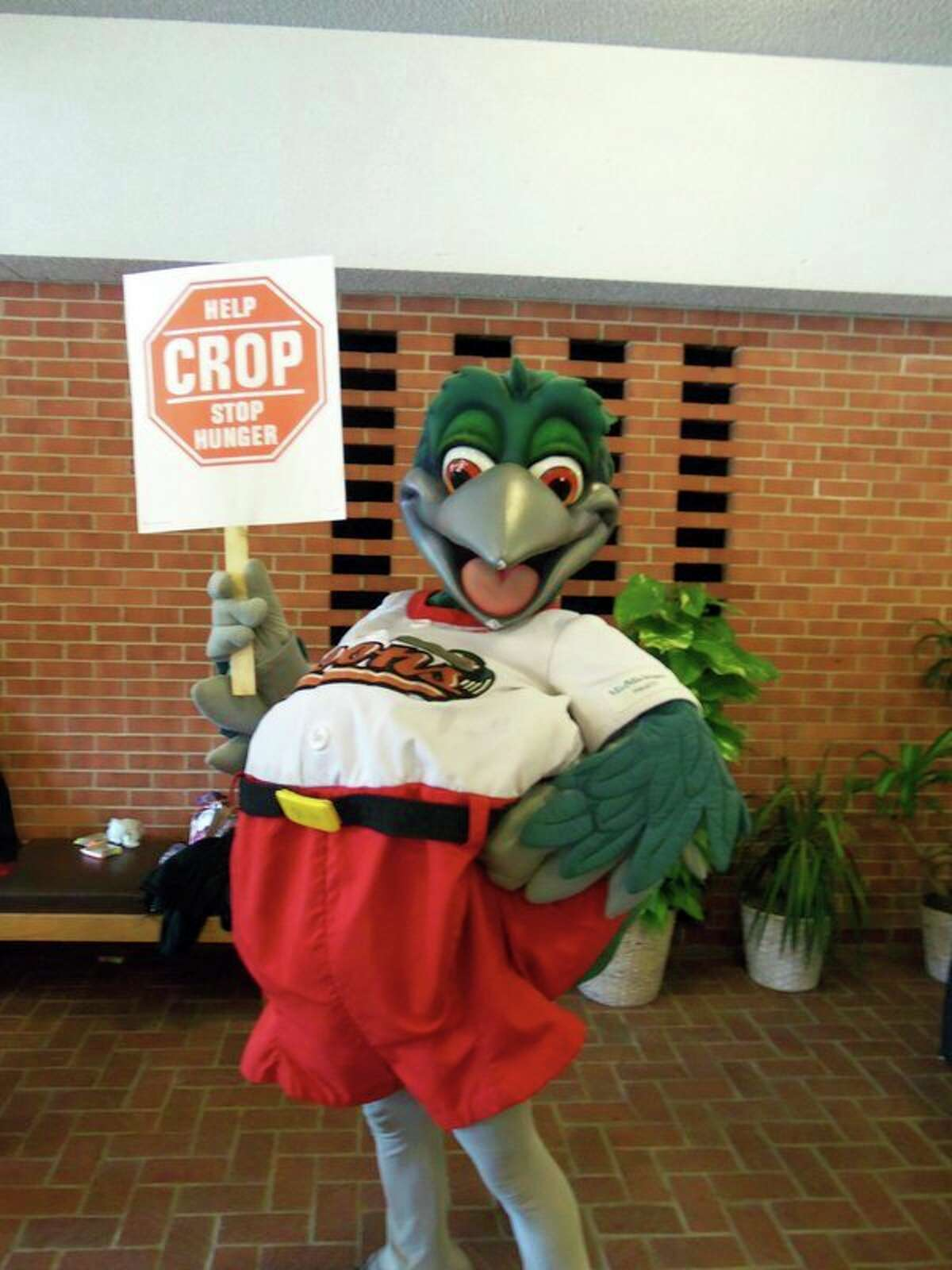 Lou E. Loon supports Midland's 40th CROP Walk in 2012. (Photo provided/Judy McDowell)