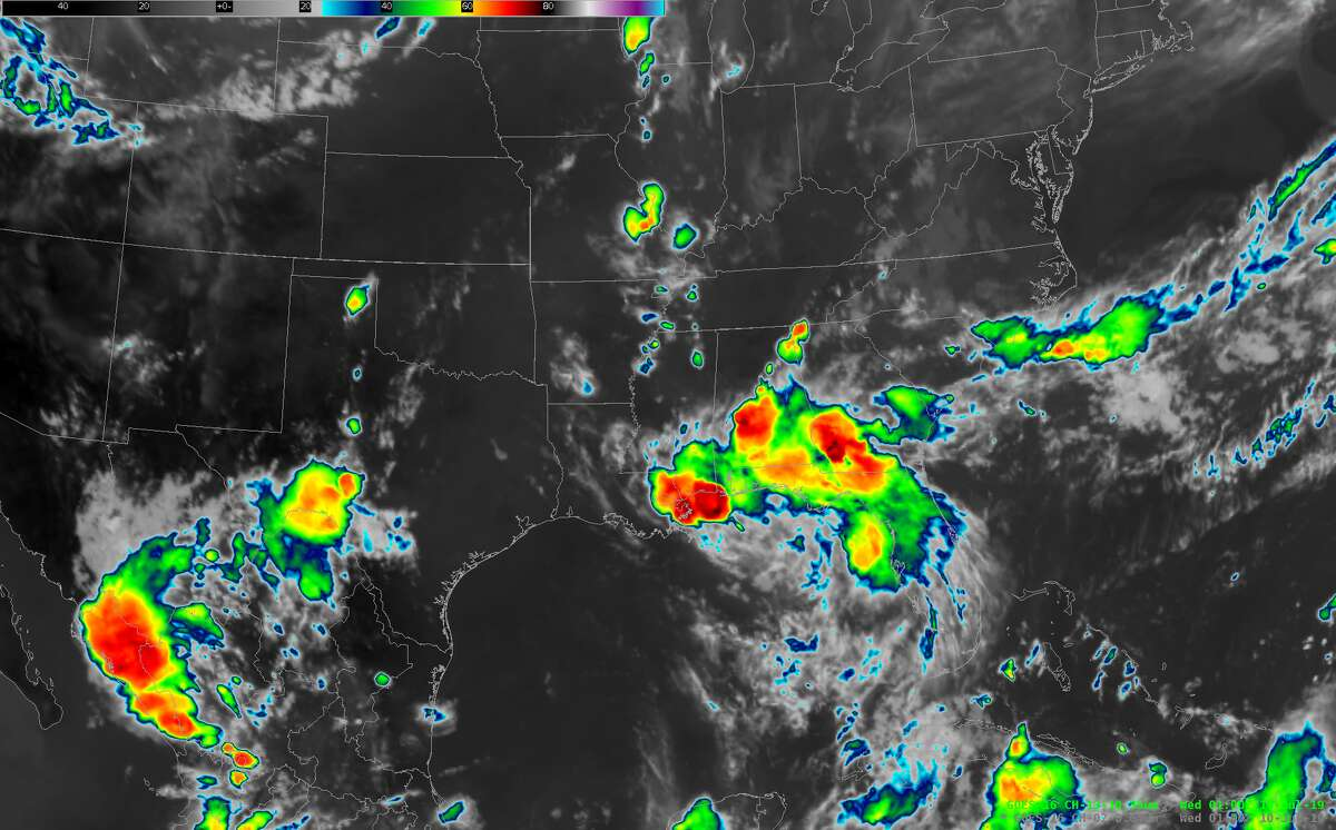 The storm as of 8 p.m. Tuesday, July 9.