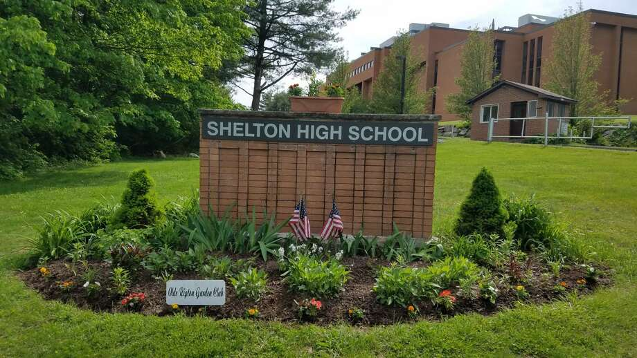 The garden at Shelton High School, recently redesigned by member of the Olde Ripton Garden Club. Photo: Contributed Photo