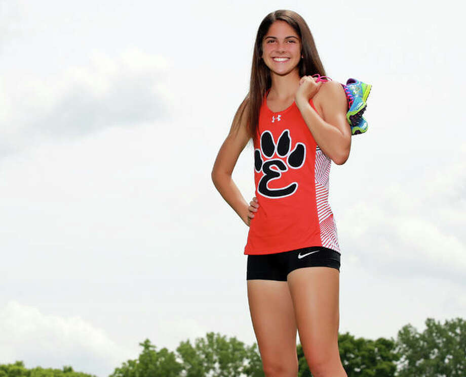 Edwardsville's Abby Korak is the 2018 Telegraph Large-Schools Girls Cross Country Runner of the Year. Korak, who will be a senior for the Tigers, also won the award the previous year as a sophomore. Photo: Billy Hurst / For The Telegraph