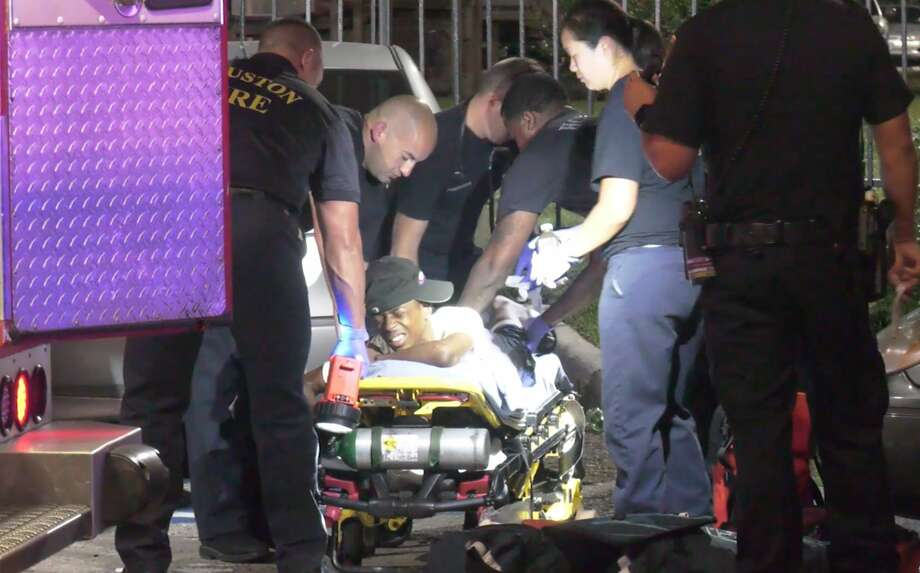Houston police investigate after four teenagers are shot in an apparent ambush at an apartment complex in the 5600 block of Royal Palms Street in the early morning hours of Thursday, July 11, 2019. Photo: OnSceneTV