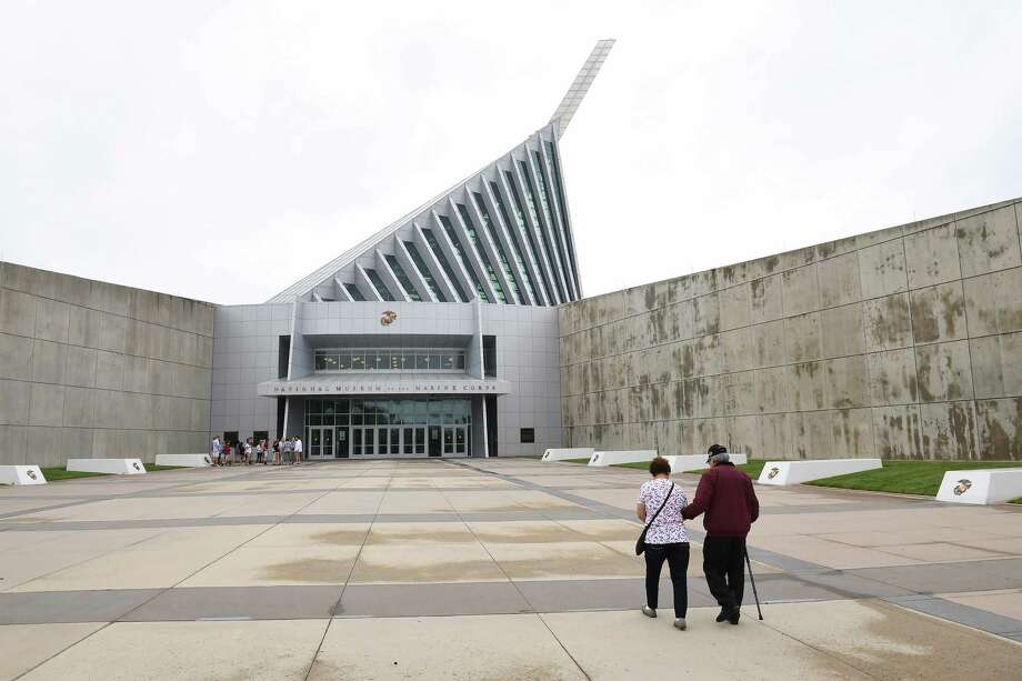 The National Museum of the Marine Corps seems targeted more towards Marines and their families than the general public. Photo: Washington Post Photo By Matt McClain / The Washington Post