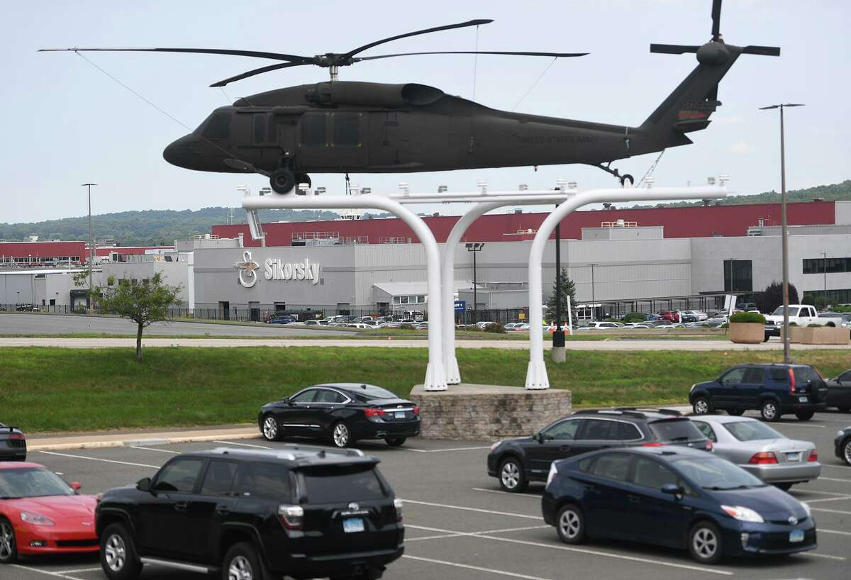 The Sikorsky helicopter factory in Stratford, Conn. on Wednesday, July 10, 2019.