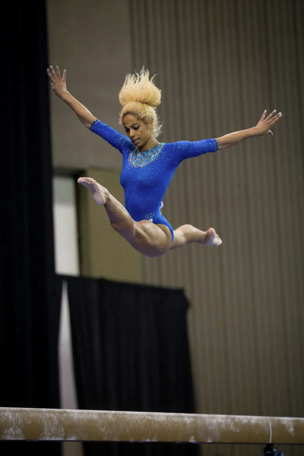 Former UCLA gymnast Danusia Francis, who will compete in the Aurora Games on Wednesday, Aug. 21, at Times Union Center.