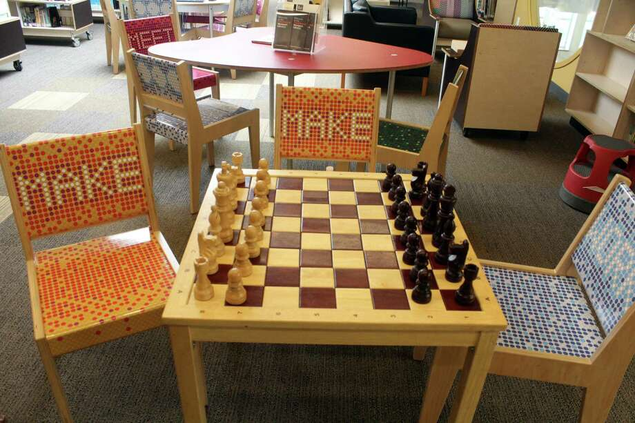 A chess board in the children's area of the Westport Library is a hot commodity according to Director of Marketing and Communications Rachel Pegnataro. Taken July 10, 2019 in Westport, CT. Photo: Lynandro Simmons/Hearst Connecticut Media