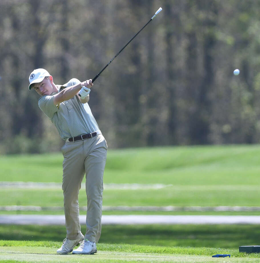 Brunswick's Ben Carpenter competes in the Greenwich Boys Golf Invitational at the Stanwich Club in Greenwich, Conn. Thursday, May 2, 2019. — Photo: Tyler Sizemore/Hearst Connecticut Media / Greenwich Time