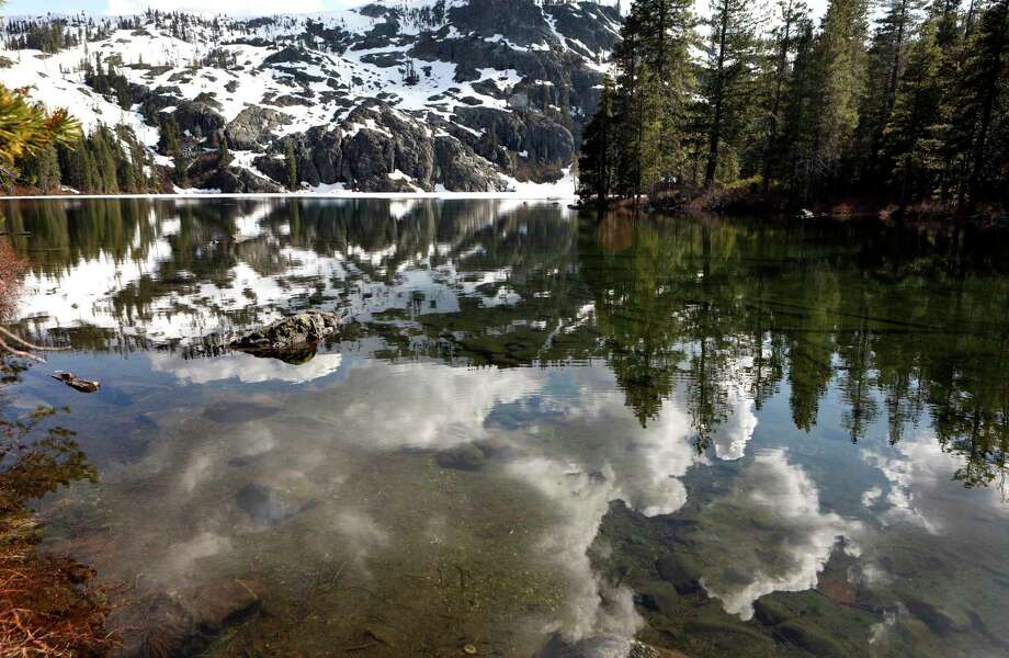 Castle Lake is still covered in snow, as seen near the city of Mount Shasta. Photo: Michael Macor / Special To The Chronicle / ONLINE_YES