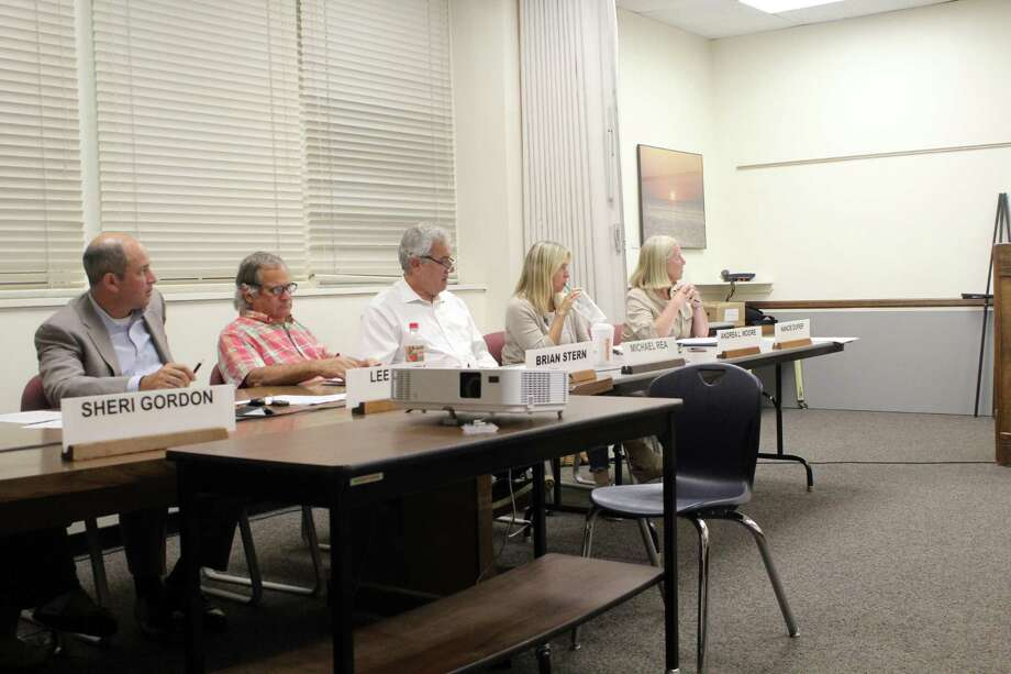 The Board of Finance on Wednesday. Taken July 10, 2019 in Wesptort, CT. Photo: Lynandro Simmons/Hearst Connecticut Media