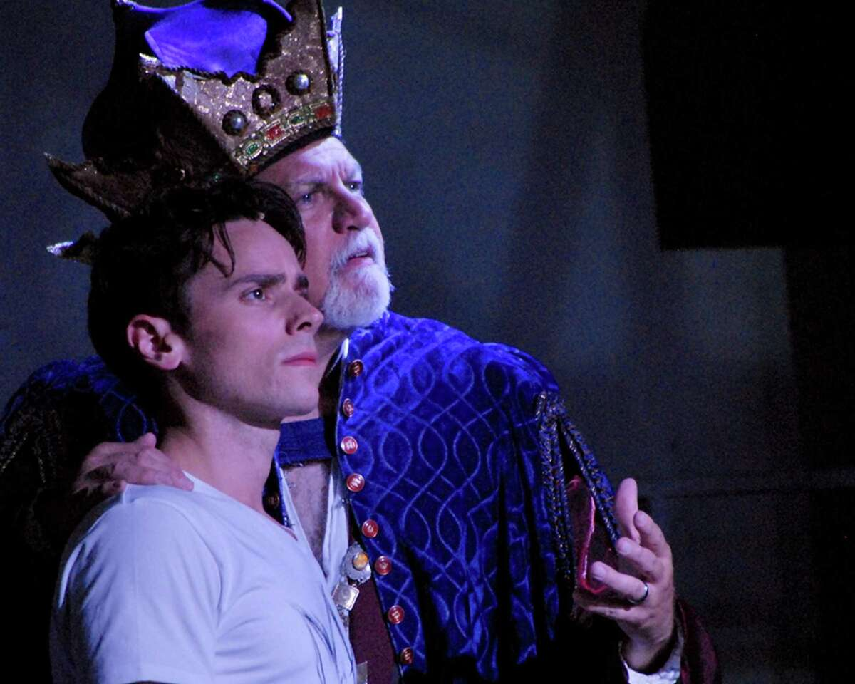 """A dozen stars from Broadway and regional theater will perform in """"A Night of Stars in Concert"""" July 15 to benefit the Summer Theatre of New Canaan (STONC) and support their successful arts education programs. Pictured are Zach Schanne, left, and Frank Mastrone in """"Pippin."""""""