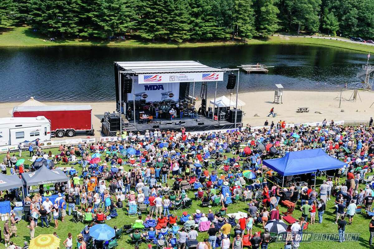 Connecticut's largest one-day charity motorcycle ride, the 5th annual MDA Benefit Ride & Concert, takes place July 14. The ride returns to Sun Valley Beach Resort in Stafford Springs, and this year will feature headlining rock icons Bret Michaels and Grand Funk Railroad. All proceeds benefit the Muscular Dystrophy Association of Connecticut.