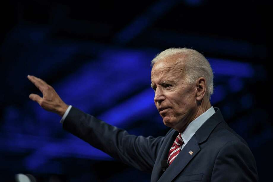 Former vice president and 2020 Democratic presidential candidate Joe Biden speaks to the National Education Association (NEA) #StrongPublicSchools Presidential Forum in Houston on July 5, 2019. Photo: Bloomberg Photo By Sergio Flores. / © 2019 Bloomberg Finance LP