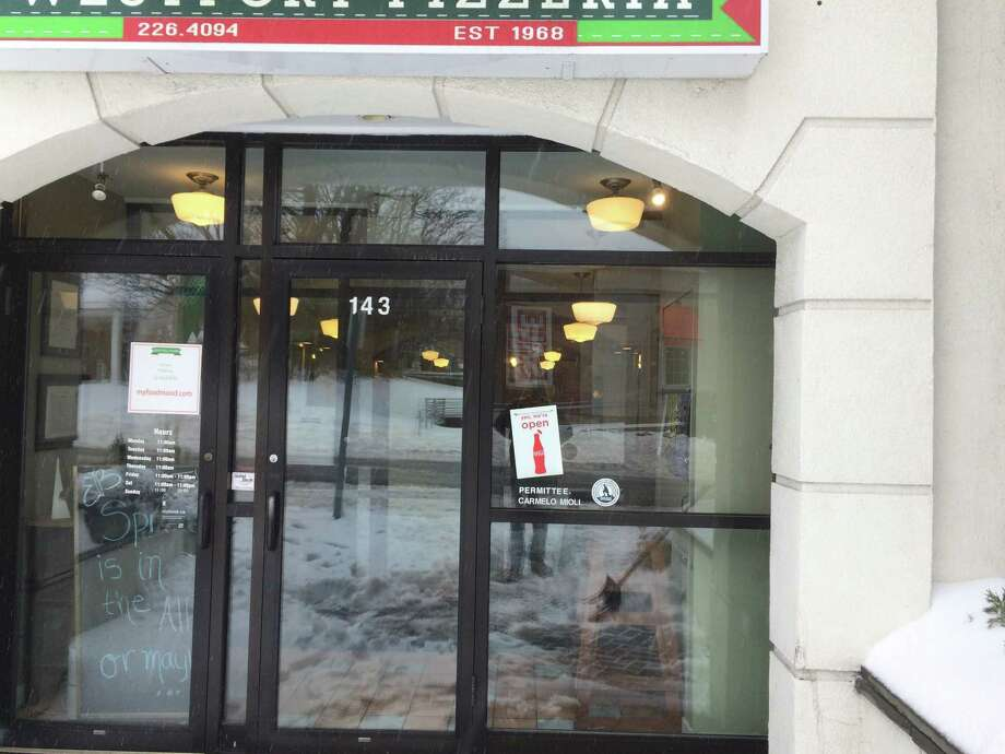Westport Pizzeria & Restaurant remains open during winter storm Stella. Photo: Contributed / Contributed Photo / Westport News
