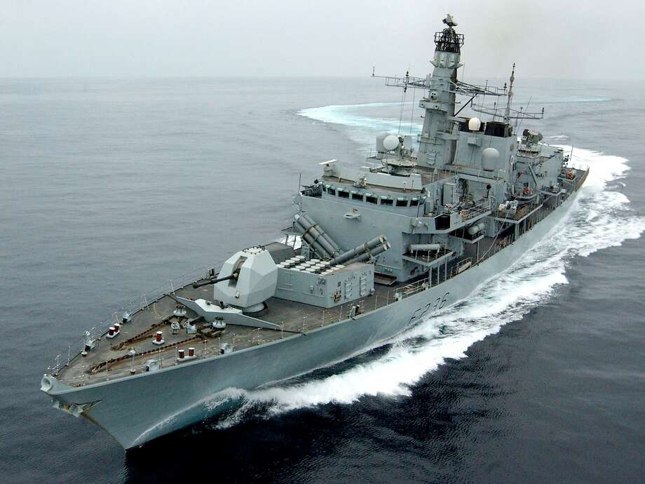 London said the HMS Montrose positioned itself between the Iranian vessels and the British oil tanker. Photo: AFP / Getty Images 2005