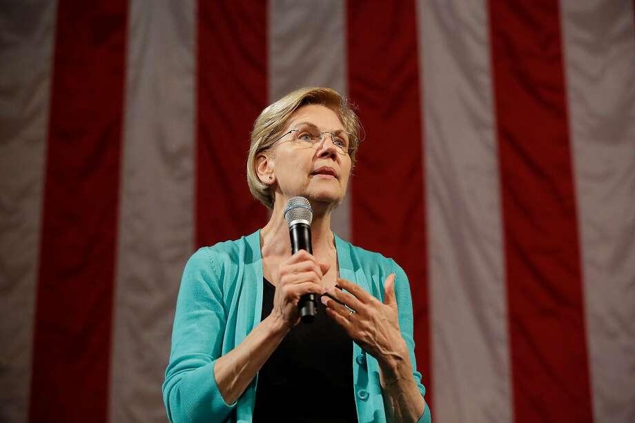 "Sen. Elizabeth Warren's plan would remodel immigration agencies ""from top to bottom."" Photo: Joshua Lott / New York Times"