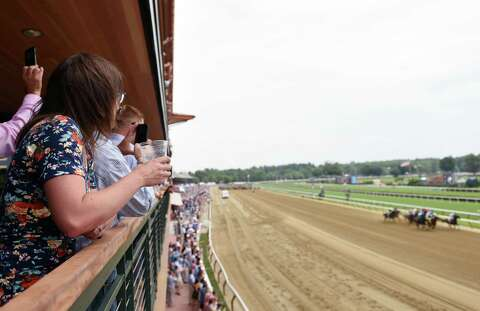 Day At The Track >> And They Re Off Race Fans Return To Saratoga For Early