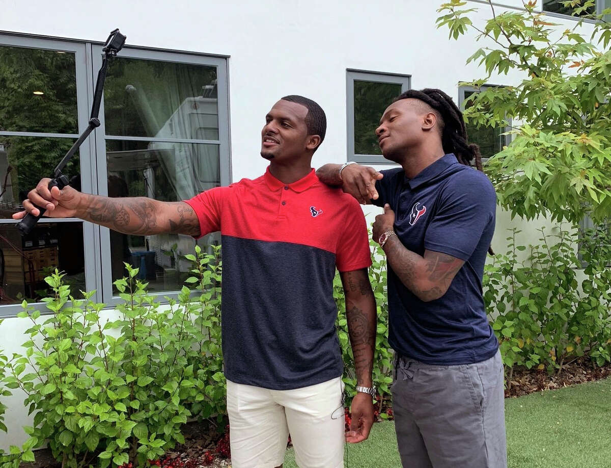 The new H-E-B commercials feature quarterback Deshaun Watson, wide receiver DeAndre Hopkins and H-E-B president Scott McClelland.