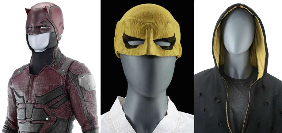 "Prop House in Valencia is auctioning off hundreds of items from (L-R) Marvel's TV shows ""Daredevil,"" ""Iron Fist"" and ""Luke Cage.""