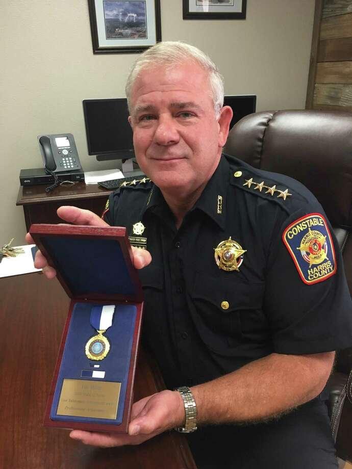 Harris County Precinct 5 Constable Ted Heap received the 2019 State of Texas Law Enforcement Achievement Award for Professional Achievement offered through the Texas Commission on Law Enforcement. Photo: Karen Zurawski / Karen Zurawski