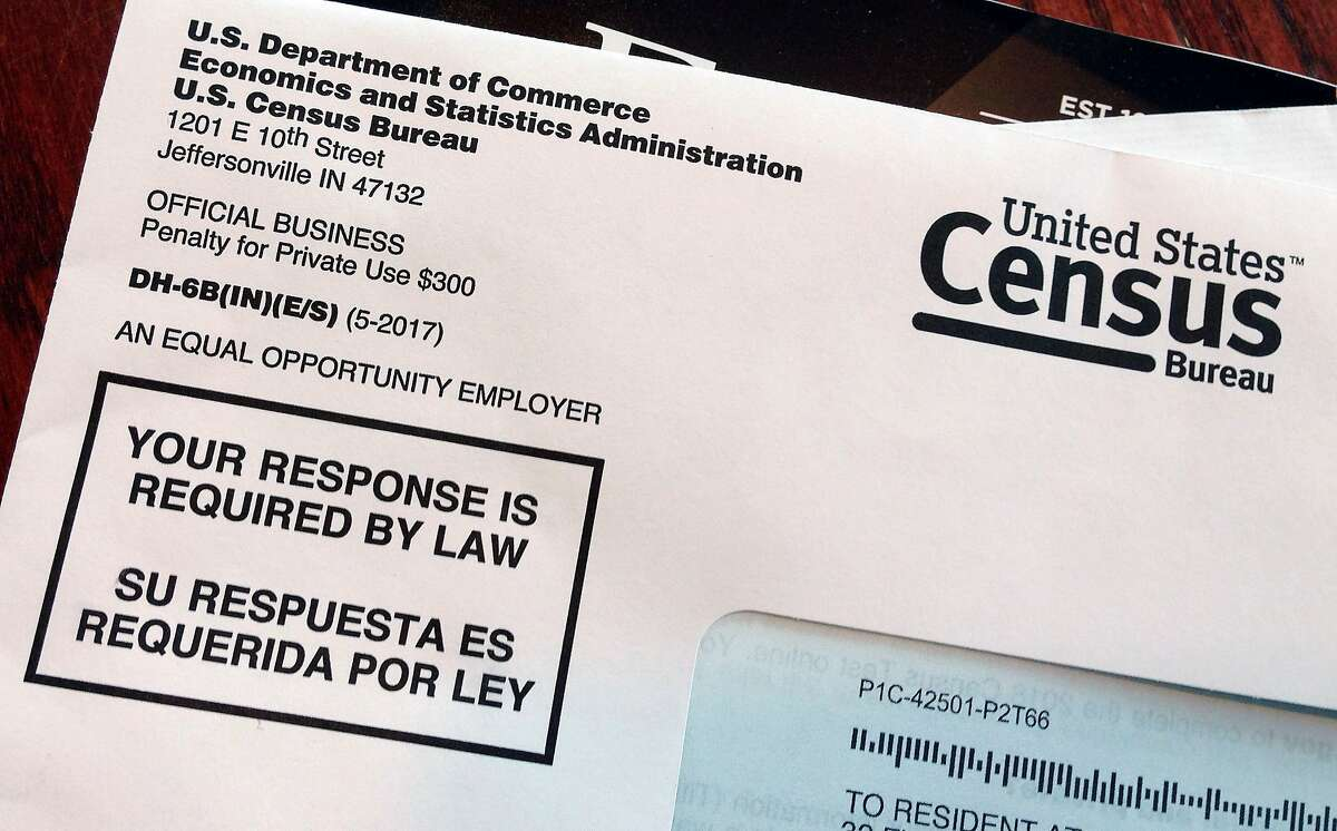 FILE - This March 23, 2018, file photo shows an envelope containing a 2018 census letter mailed to a U.S. resident as part of the nation's only test run of the 2020 Census. Legal wrangling has surrounded the U.S. census count for decades, culminating in this year?•s fight over adding a citizenship question. (AP Photo/Michelle R. Smith, File)
