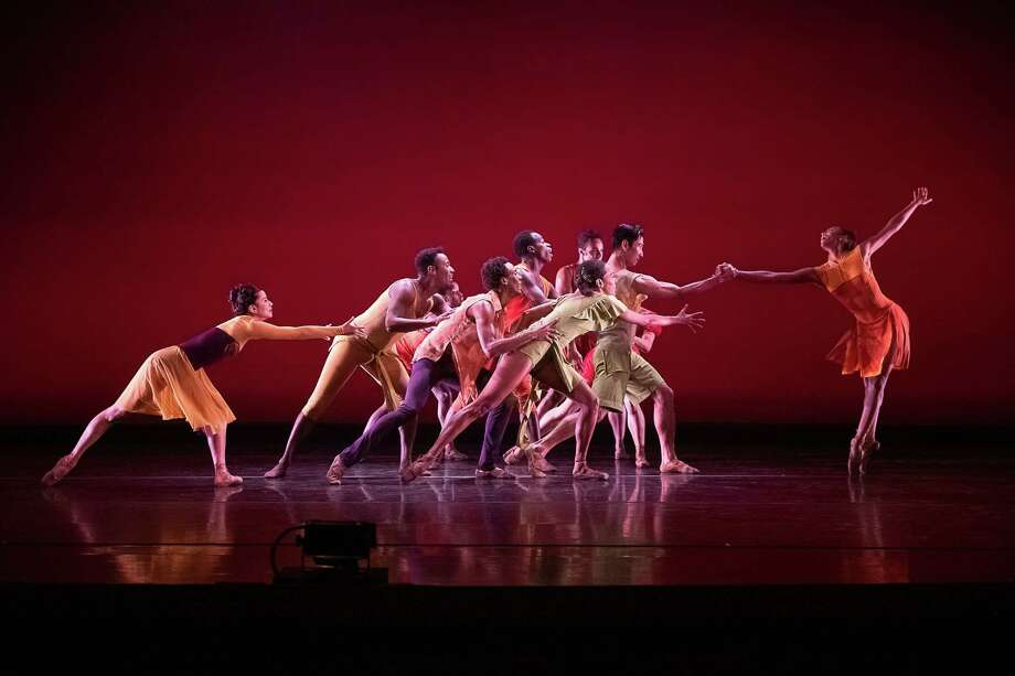 "Amanda Smith (right) and Dance Theatre of Harlem in Annabelle Lopez Ochoa's ""Balamouk""; photo Christopher Duggan Photo: Provided By Jacobs Pillow / Christopher Duggan"