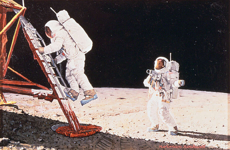 Norman Rockwell (1894-1978), The Final Impossibility: Man's Tracks on the Moon 1969. Collection of the National Air and Space Museum, Smithsonian Institution. c.Norman Rockwell Family Agency. All rights reserved. Photo: Courtesy