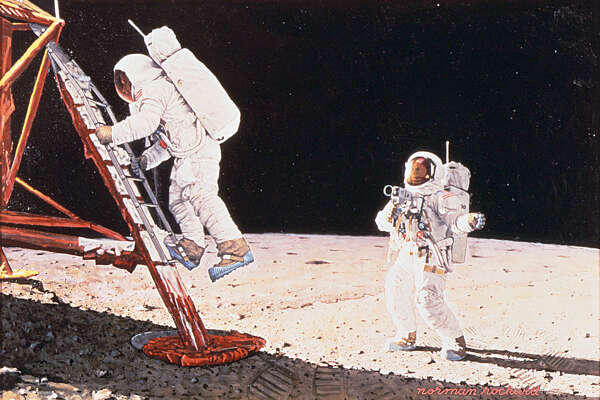 Norman Rockwell (1894-1978), The Final Impossibility: Man's Tracks on the Moon 1969. Collection of the National Air and Space Museum, Smithsonian Institution. c.Norman Rockwell Family Agency. All rights reserved.