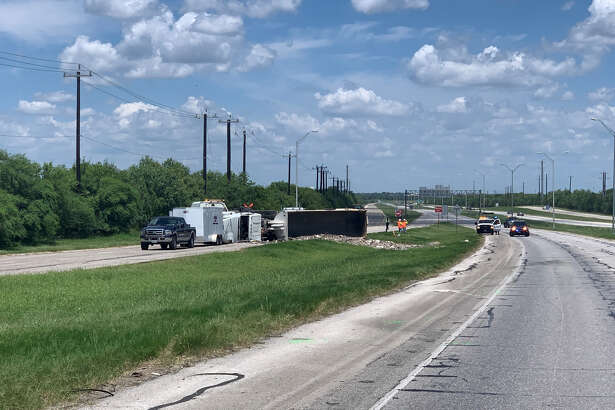 A man died early Thursday, July 11, 2019, on the South Side after he crashed into the rear of a vehicle that had stopped to avoid hitting an overturned semi-trailer truck on Loop 410 near Somerset Road.