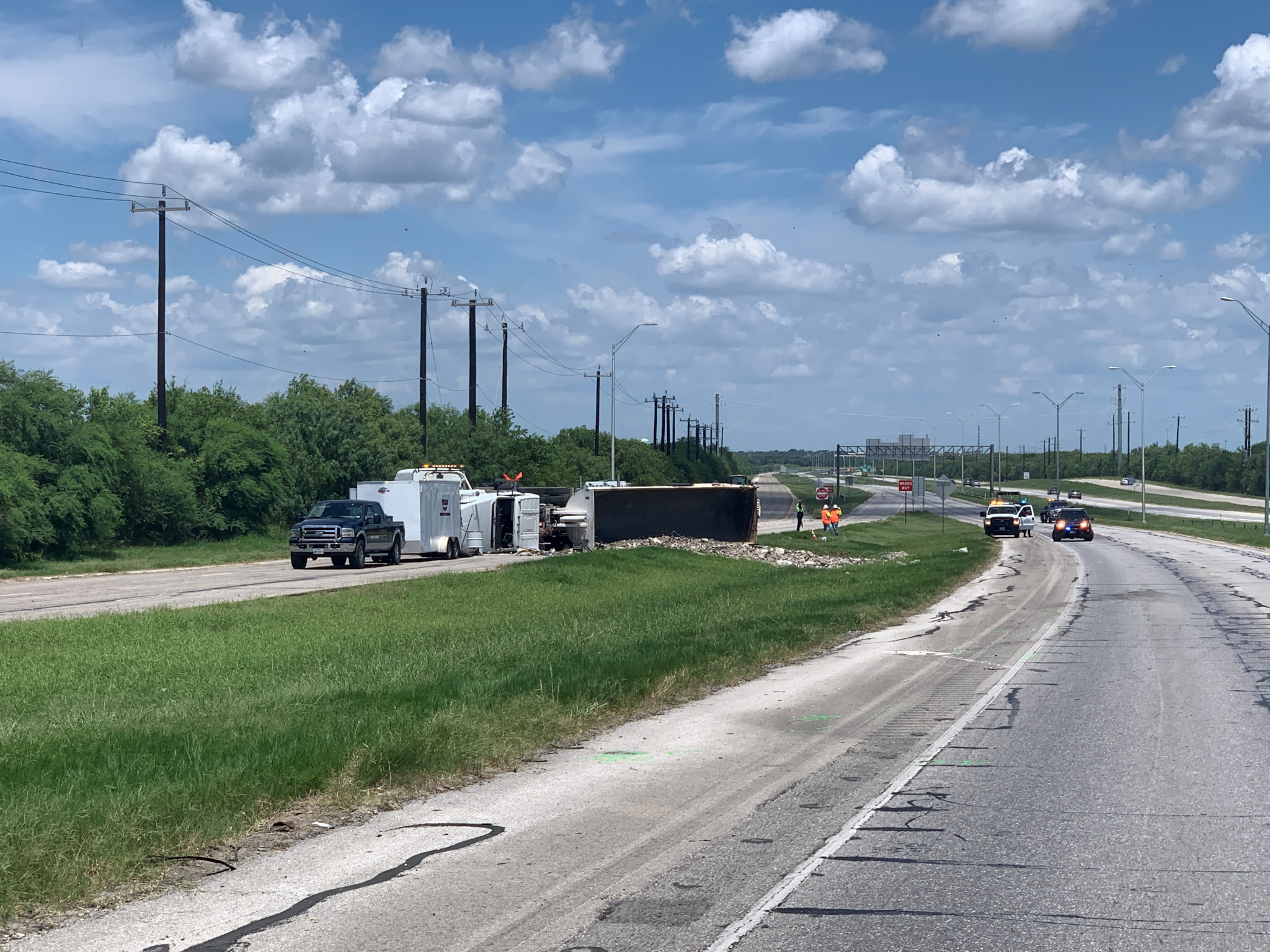 Overturned semi-trailer truck results in fatal motorcycle