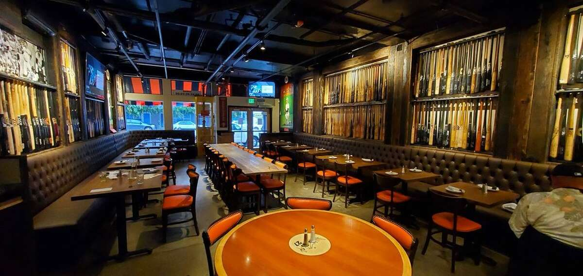 ORACLE PARK Pine Tar Grill Total walk time: 20 mins The owner behind Pine Tar Grill wanted to bring his love for the Giants under one roof and you'll surely see that when you walk in. The space is decorated with all kinds of Giants memorabilia including bats, jerseys and plenty of Giants photos. Find them: 917 Folsom St., San Francisco,pinetargrill.com
