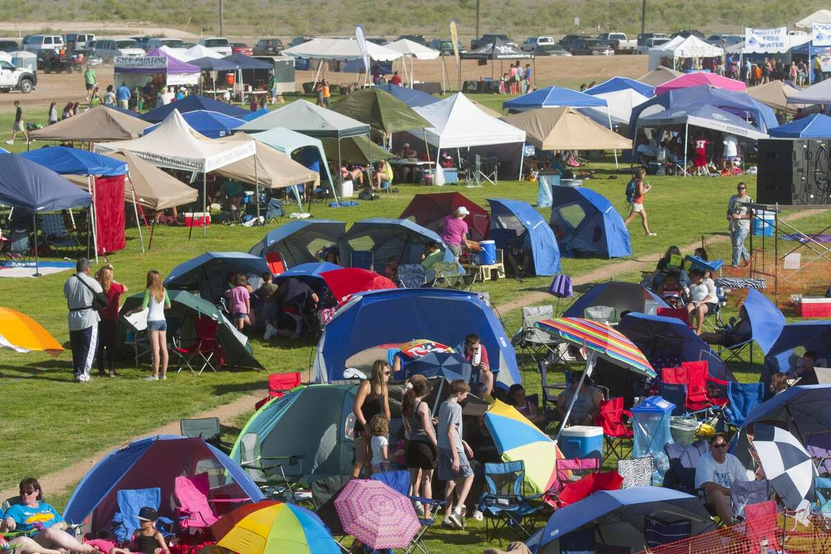 General view of the tent section during Rock The Desert on Friday. James Durbin/Reporter-Telegram