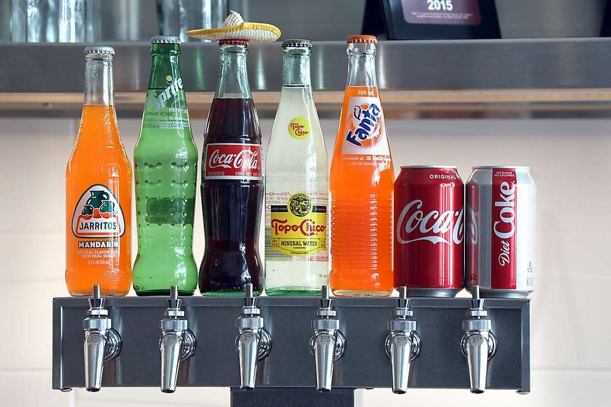 Soda seen on tap at El Pipila, a Guanajuato restaurant on Tuesday, April 23, 2019, in San Francisco, Calif.