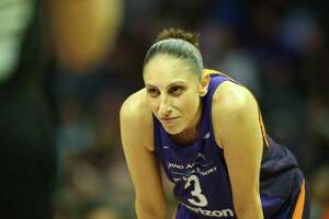 Phoenix Mercury guard Diana Taurasi during a WNBA game against the Los Angeles Sparks on May 27, 2018 at Staples Center in Los Angeles.