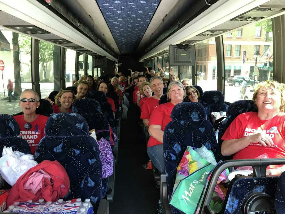 The Virginia Beach Moms Demand Action group travels to Richmond, Virginia, on Tuesday July 9, 2019, for the General Assembly special session to address gun laws. Photo: Sibel Galindez. / Handout