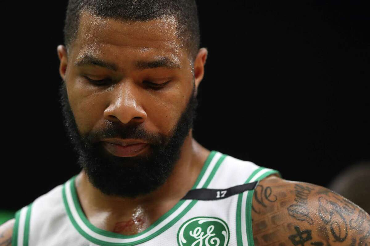 BOSTON, MASSACHUSETTS - MAY 06: Marcus Morris #13 of the Boston Celtics looks on during the second half of Game 4 of the Eastern Conference Semifinals during the 2019 NBA Playoffs at TD Garden on May 06, 2019 in Boston, Massachusetts. The Bucks defeat the Celtics 113-101. (Photo by Maddie Meyer/Getty Images)